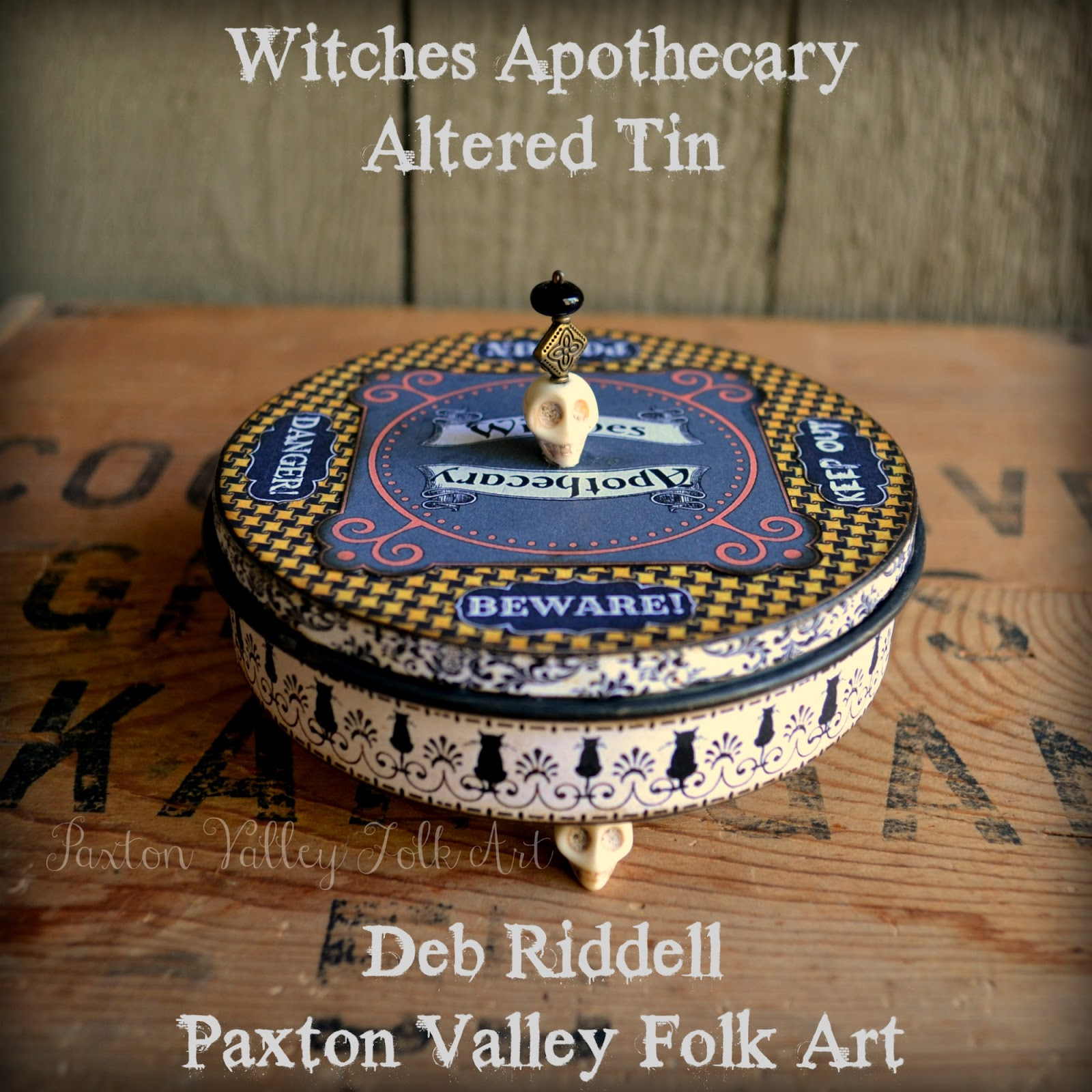 Deb Riddell Designs: Witches Apothecary Altered Tin