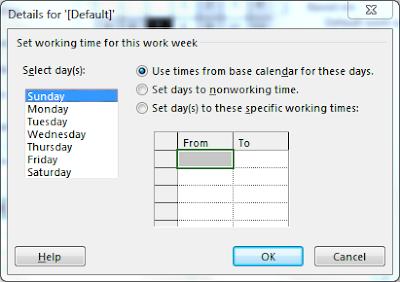 Microsoft Project Holidays