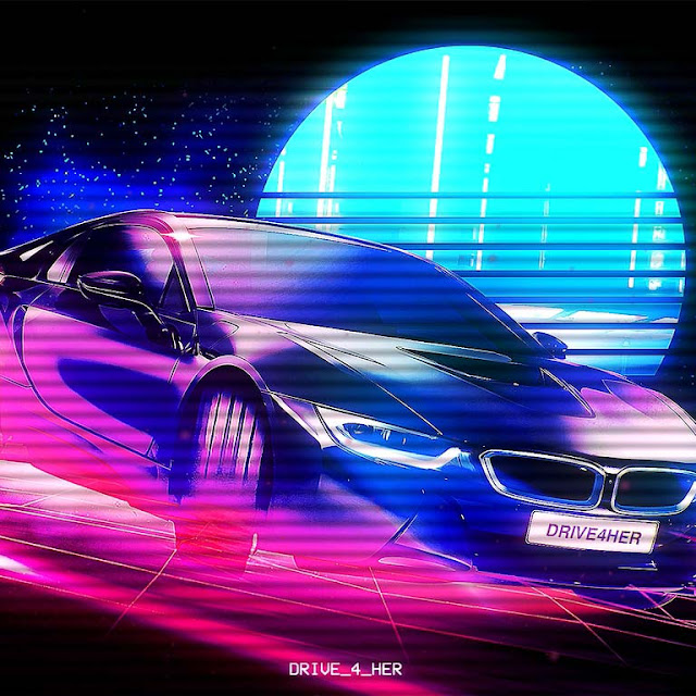 Retrowave HD BMW ( No Sound ) Wallpaper Engine