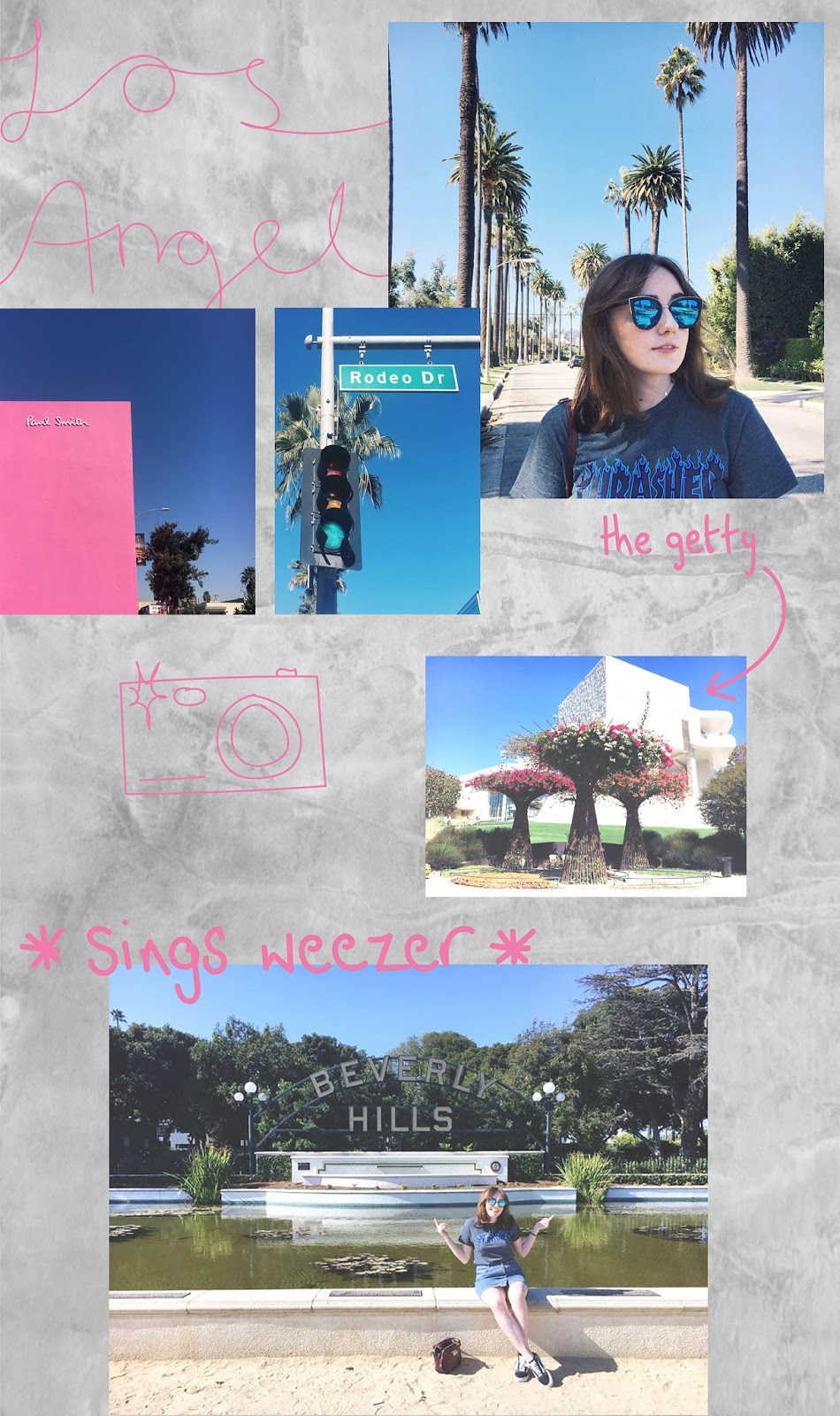 collage of photos from Beverley hills and melrose, Los Angeles
