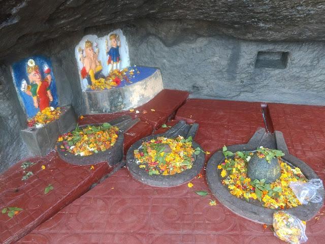 Shivlingas inside Gangeshwar Temple