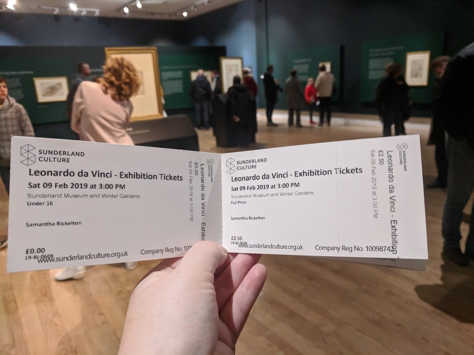 5 Reasons to Visit the Leonardo da Vinci: A Life in Drawing Exhibition at Sunderland Museum & Winter Gardens with Kids - tickets and exhibition space