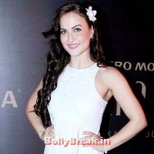 , Elli Avram Pics from Karan Johar's Fashion Show in White Dress
