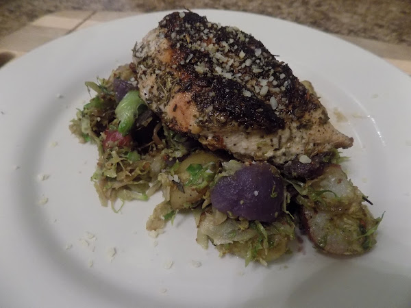 I tried it again to make sure I still liked it! (Plated Meal: Chicken and Brussels Sprouts Hash)