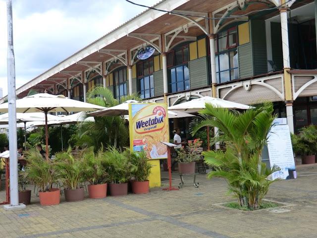 Port Louis Mauritius, Restaurant in den alten Markthallen