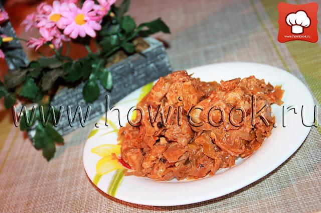 рецепт вкусной свинины с квашеной капустой с фото