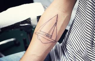tatuaje lineas velero