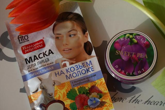 Fitokosmetik odżywcza maseczka do twarzy z kozim mlekiem i lnem