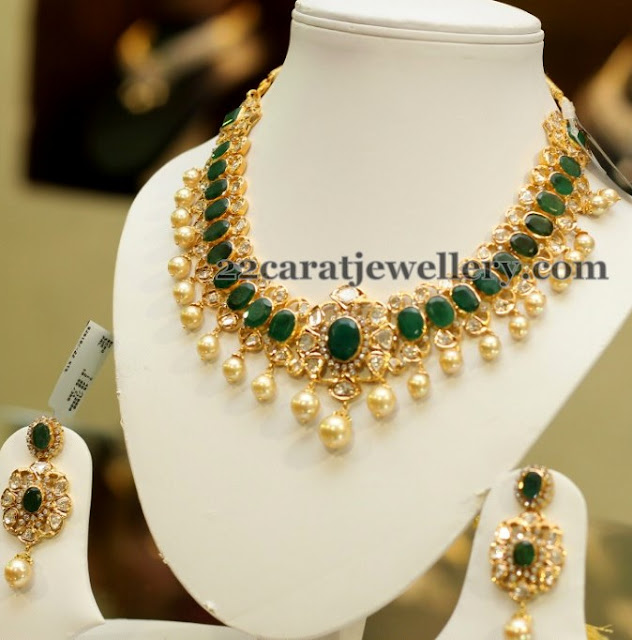 Large Pota Emerald Choker