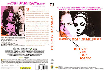 Cover, dvd, caratula: Reflejos en un ojo dorado | 1967 | Reflections in a Golden Eye