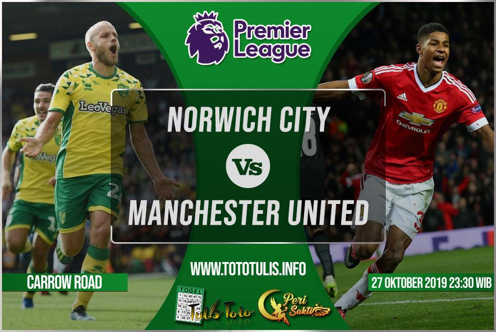 Prediksi Norwich City vs Manchester United 27 Oktober 2019