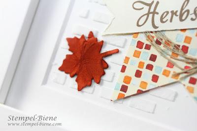 Homedeko; Herbstdeko; Bilderrahmen basteln; stampinup Herbstimpressionen; stempelnddurchsjahr; stempel-biene