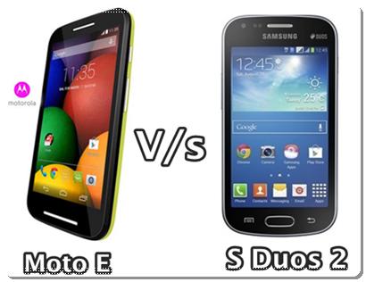 Compare Motorola Moto E and Samsung Galaxy S Duos 2