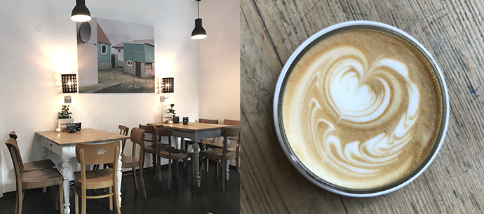 Frühstücken in Nürnberg. Kaffee trinken im Café Mainheim.