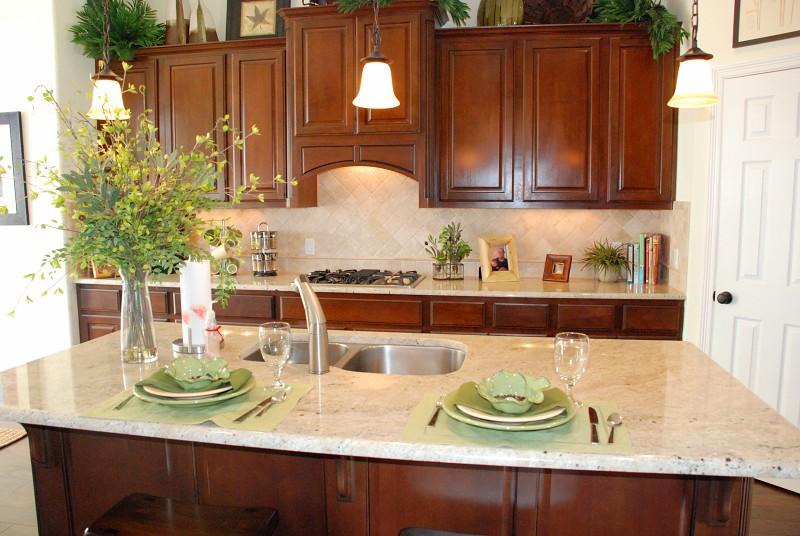 Amber Yellow Granite Kitchen Countertop Ideas