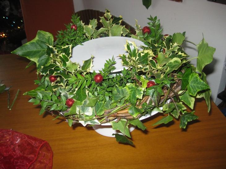 Centrotavola e sottopiatto natalizi handemade