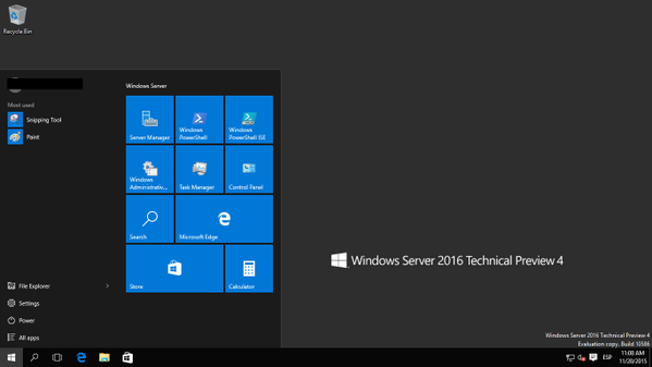 Windows Server 2016 Technical Preview 4
