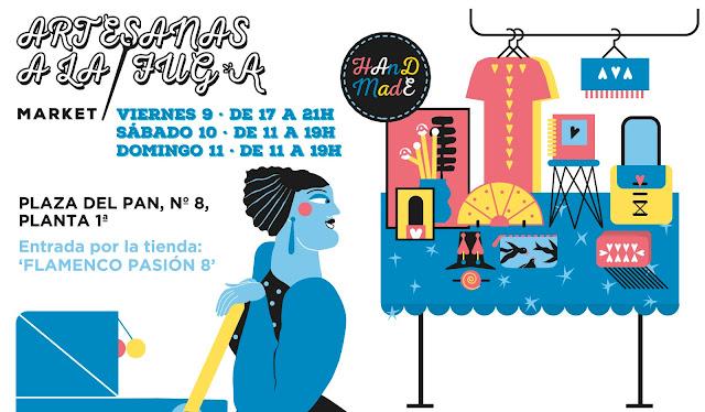Banner mercado artesano 'Artesanas a la Fuga', por Raquel Feria, de Rachel´s Puzzle Things - Handmade market banner by Rachel´s Puzzle Things