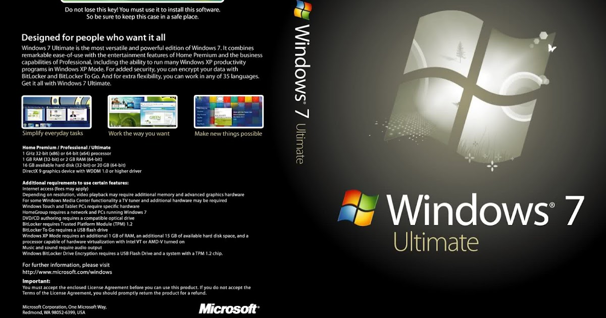 Windows 7 Ultimate 32 Bit 64 Bit Free Download With