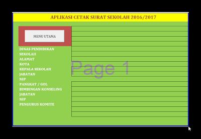 Aplikasi Cetak Surat Sekolah Otomatis Format Excel v.2