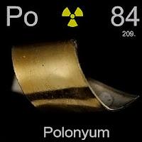 Polonyum elementi üzerinde polonyumun simgesi, atom numarası ve atom ağırlığı.