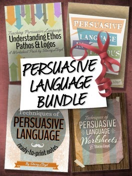 http://www.teacherspayteachers.com/Product/Persuasive-Language-BUNDLE-1261938