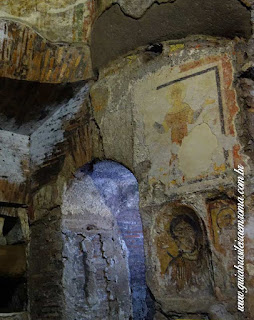 catacumba cripta santa Cecilia sao calixto guia portugues roma - Catacumbas de São Calixto na Via Appia