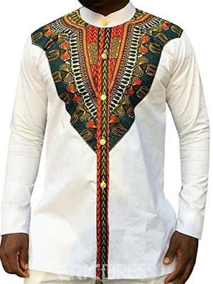 Dashiki African Print Slim Fit Men's Shirt