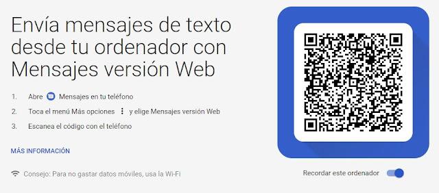codigo qr para mensajes de android web