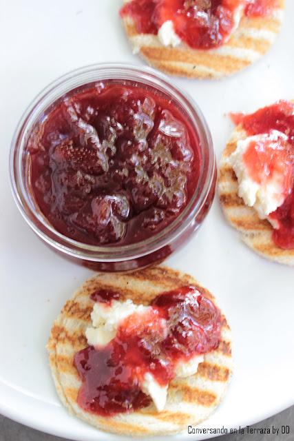 Mermelada de Ruibarbo y fresas