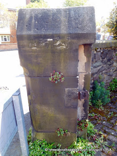 Gatepost of Unitarian church