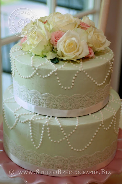 Party Cakes Pearls And Lace Wedding Cake