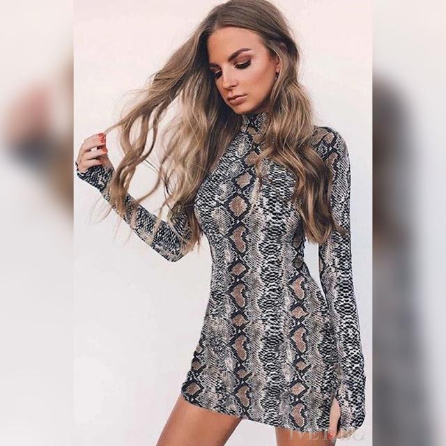 Μακρυμάνικο μεσάτο κοντό φόρεμα EDELA