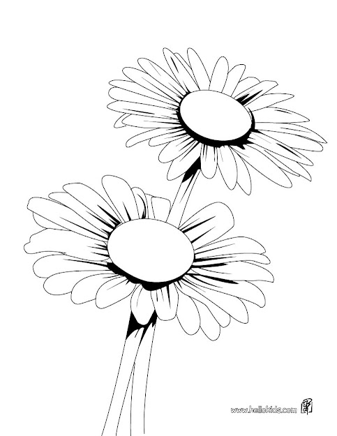 Daisy Coloring Page  Coloring Page  Nature Coloring Pages  Flower  Coloring Pages  Daisy