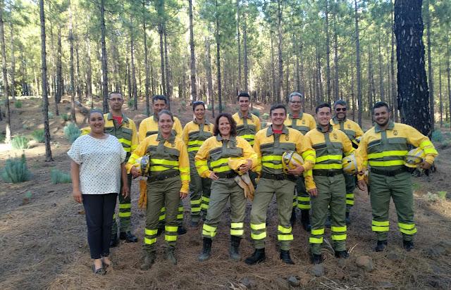"""El grupo de voluntarios forestales de Tijarafe """"Los sin suela"""" cuentan ya con todo su equipamiento"""