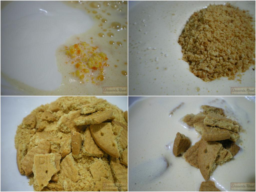 Bizcocho glaseado de mandarinas con almendras y avellanas(Elaboración)