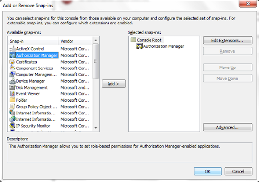 Use Authorization Manager (AzMan) for Managing Roles and Permissions