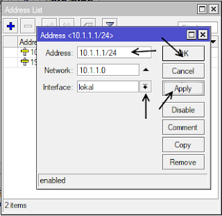 Menambah IP Address Mode GUI
