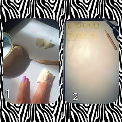 Sagoma dell'unghia per nail art con adesivi fai da te