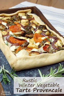 rustic winter vegetable tart