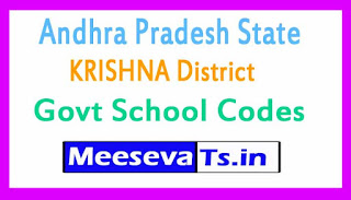 KRISHNA District Govt School Codes in Andhra Pradesh State