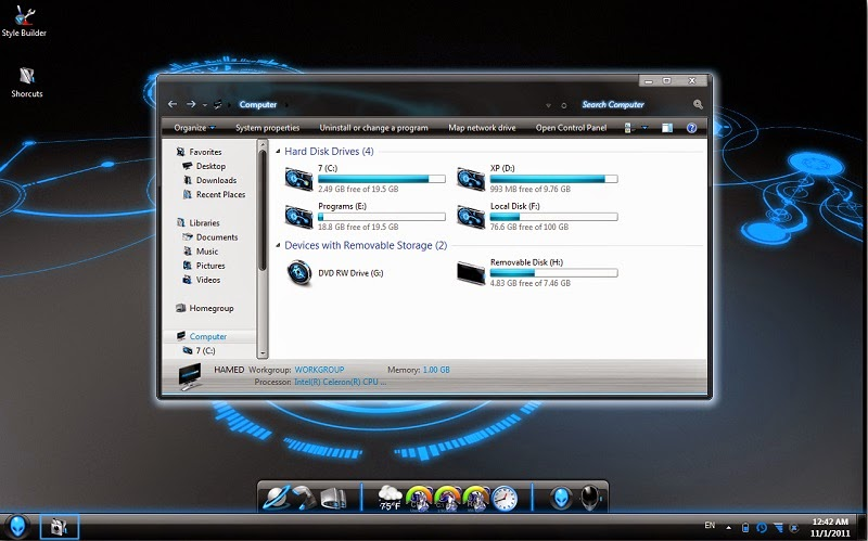 AlienWare Skin Pack for Windows 7
