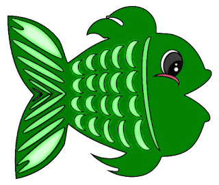 green fish, free clipart image, fun whimsical green fish, free adobe illustration free to use