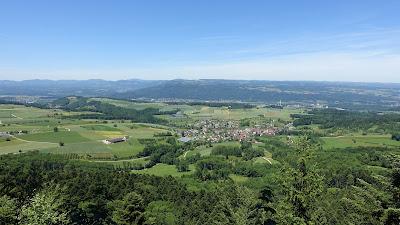 Blick vom Tiersteinberg mit Schupfart im Vordergrund