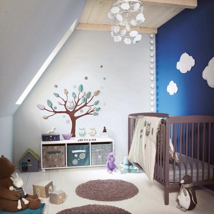 DeKoBook: Chambre bébé garçon bleue