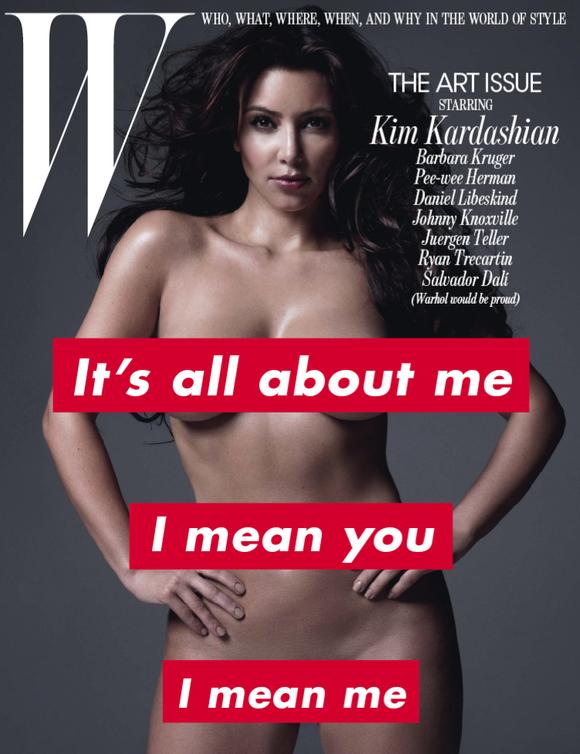 Kim Kardashian portada desnuda barbara kruger