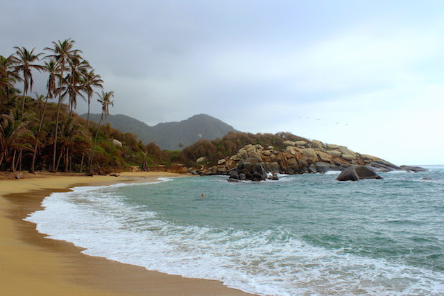 Cabo San Juan at sunrise, Tayrona National Park, Colombia
