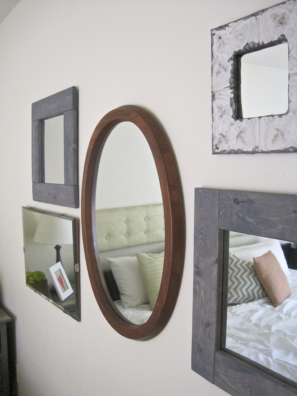 The Project Lady Make Your Own Hanging Mirror Cheap And Simple