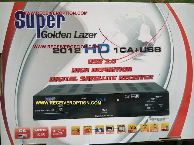 SUPER GOLDEN LAZER 2012 HD RECEIVER CCCAM OPTION