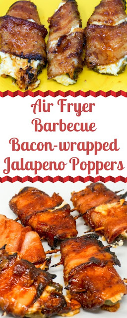 Air Fryer BBQ Bacon-wrapped Jalapeno Poppers